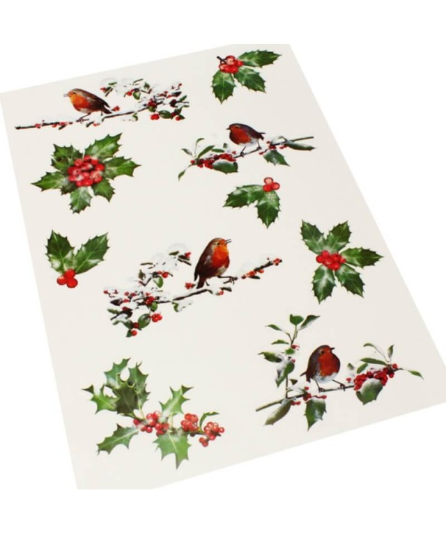 Holly Window Stickers