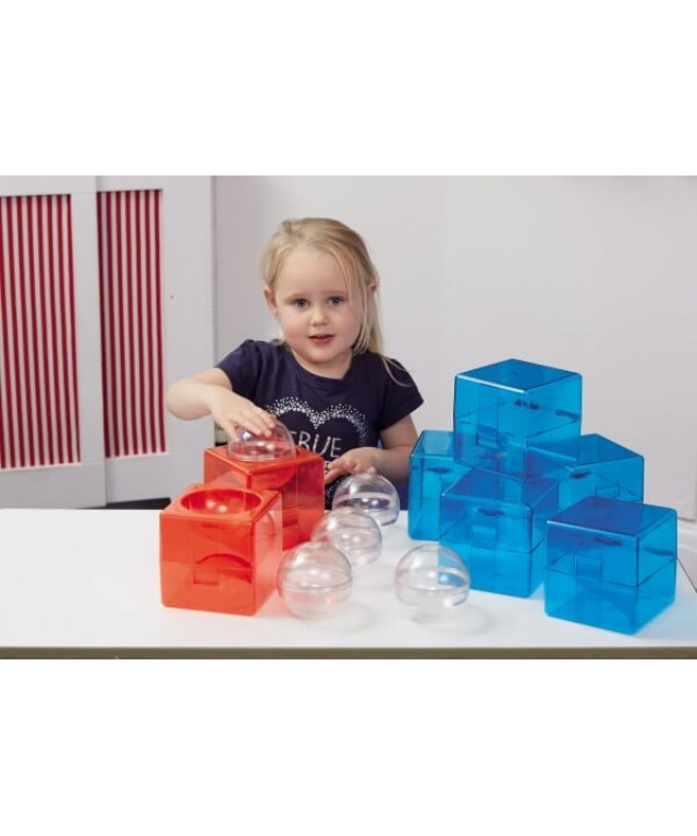 Acrylic Open Up Construction Building Block Cubes