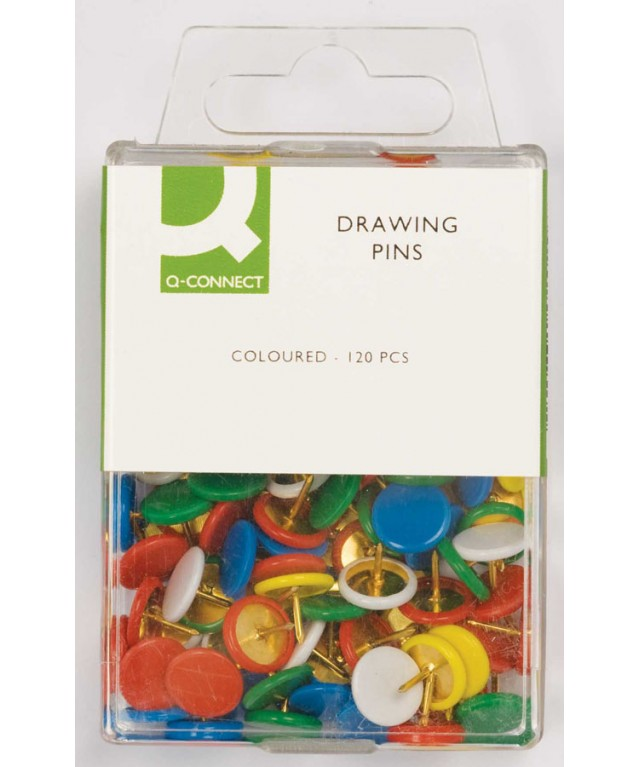 Drawing Pins Coloured