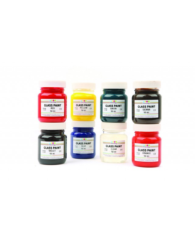Glass Paint 8 X 50ml Assorted