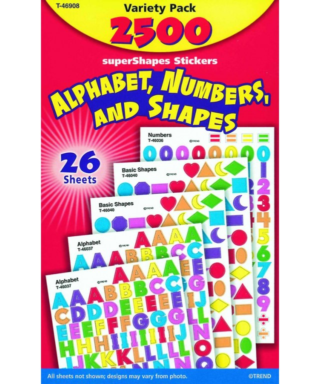 Alphabet, Numbers & Shapes,