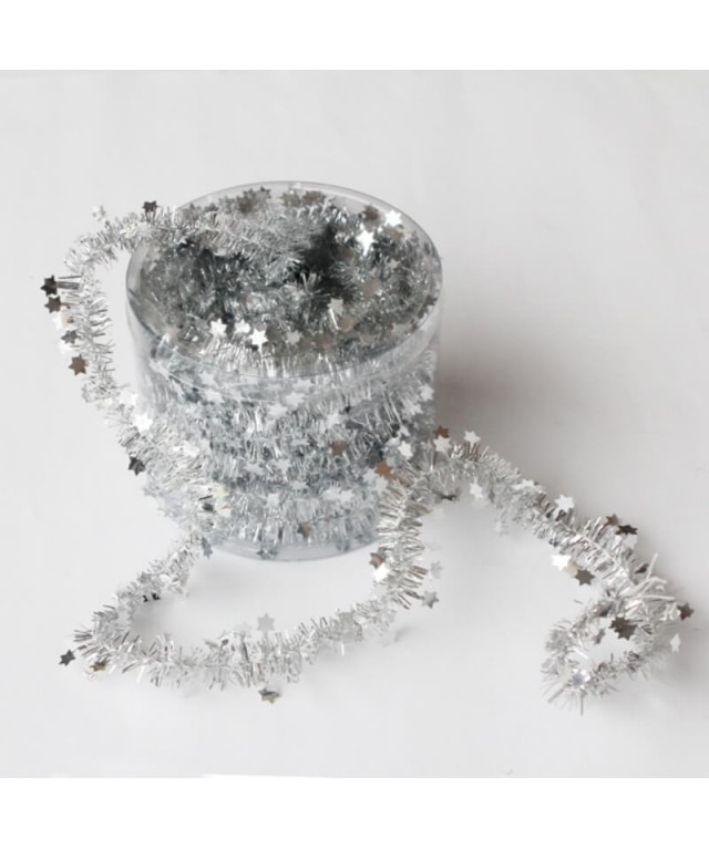 Tinsel Garlands Silver
