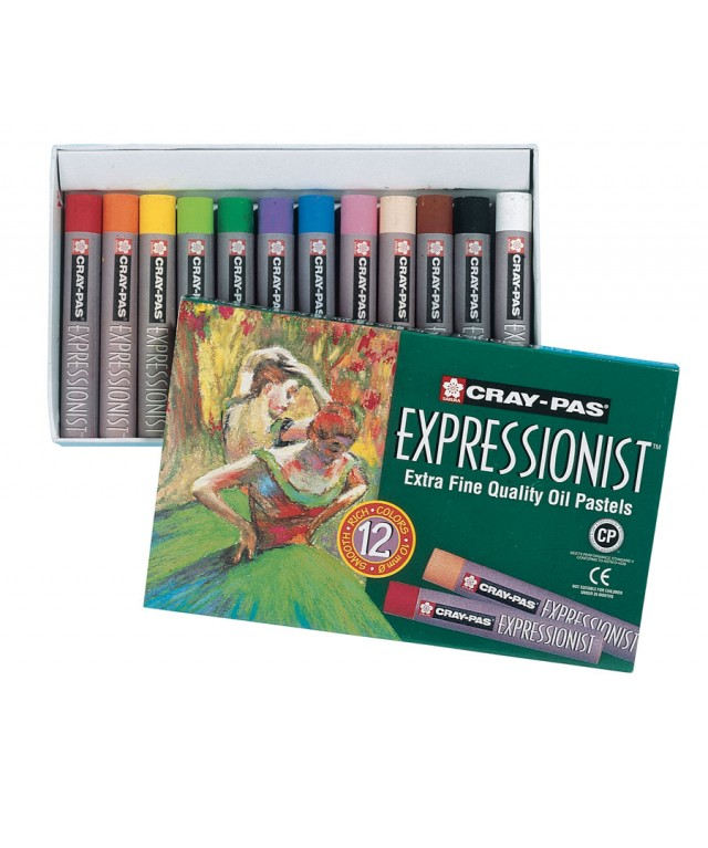 Cray-Pas Expressionist Jumbo Oil Pastels 12 Assorted