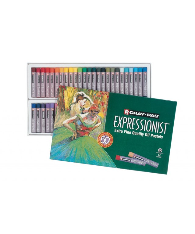 Cray-Pas Expressionist Jumbo Oil Pastels 50 Assorted