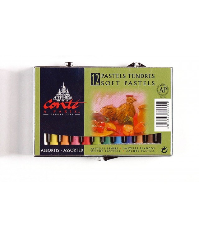 Conte Soft Pastels 12 Assorted