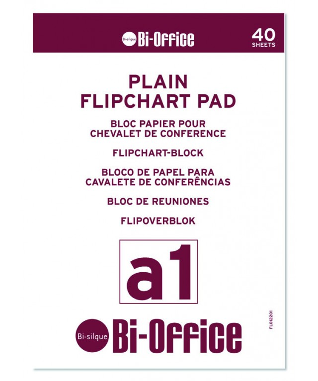 Flipchart Pad A1 Plain 40 Sheet