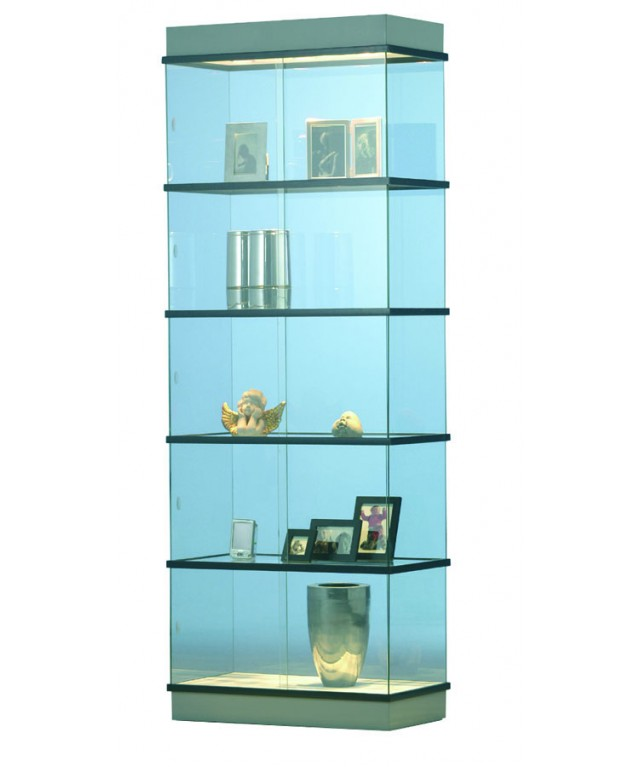 Glass Showcase 5 Tier 1930X720X360mm + Lighting Can