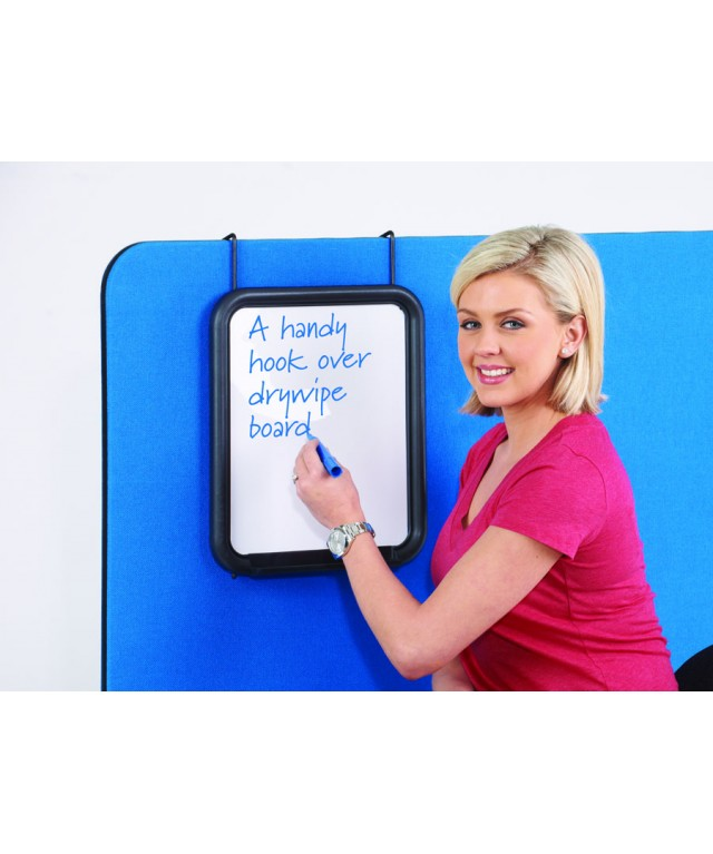 Busyscreen Triple Safety Partition Hook Over Whiteboard