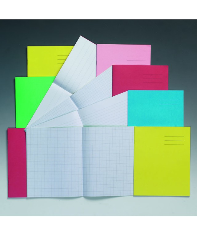 Exercise Books 8 X 6.5 48 Page 7mm Squares Light Blue