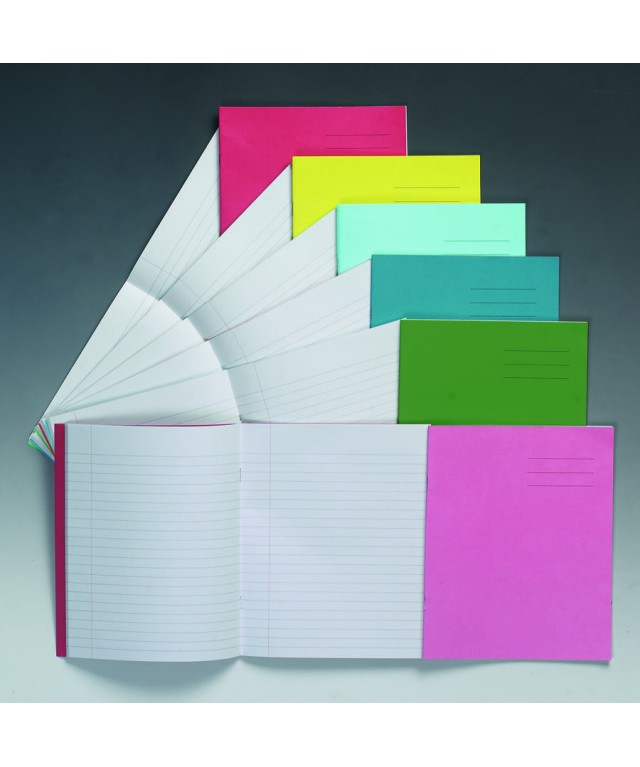 Exercise Books 8 X 6.5 32 Page 15mm Feint Vivid Red