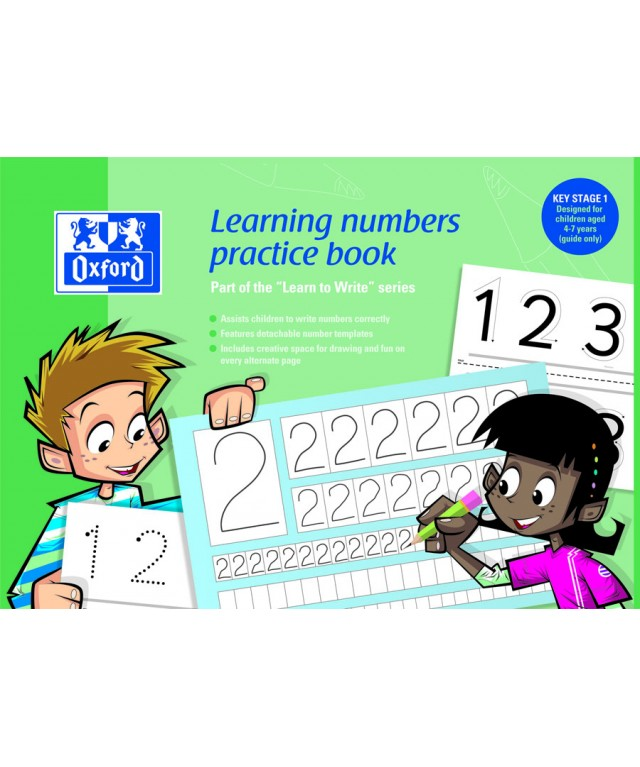 Themed Exercise Books A4 Learning Numbers Ks1