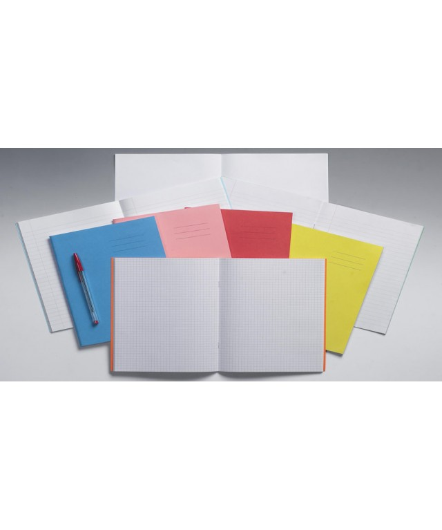 Exercise Books 9 X 7 80 Page 8mm F & M/Alternate Orange