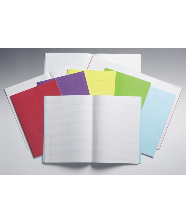 Exercise Books 8 X 6.5 80 Page 8mm Feint/Blank Alt Light Blue