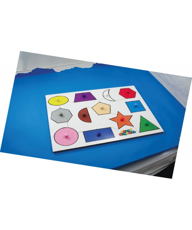 Geometric Shapes Peg Board Puzzle