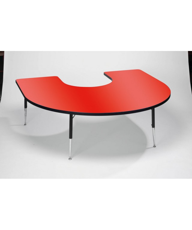 Red Horseshoe Table