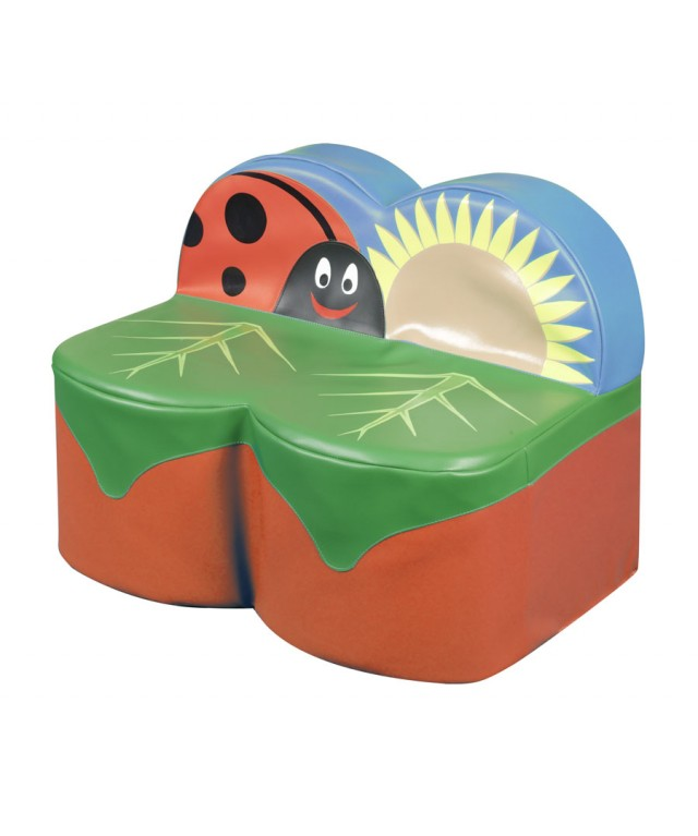 Back To Nature Ladybird 2 Seat Sofa 700 x 420 x 300 x 630mm