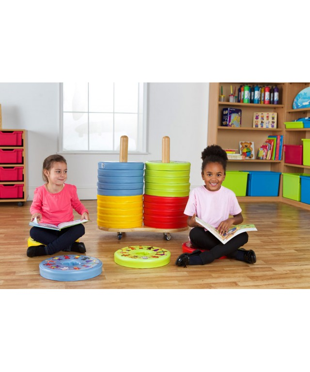 Children of the World Multi-Cultural Donut 24 Cushions & Trolley