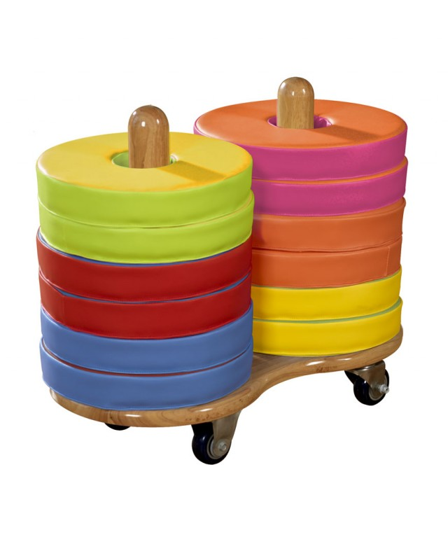 Trolley & 12 Bi-Colour Cushions