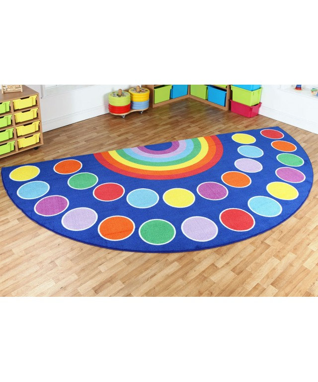 Rainbow Semi-Circle Carpet