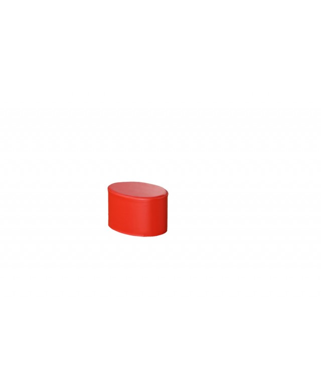 Modular Seating Seating Pouf Red