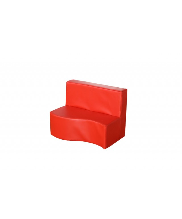 Modular Seating Seating 2 Seat Sofa Red