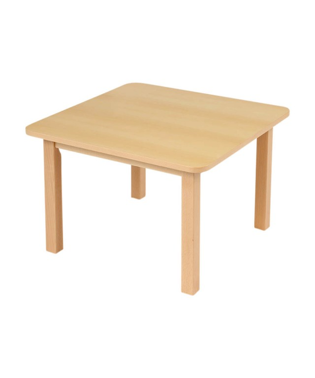 Classic Beech Square Table Height 400mm