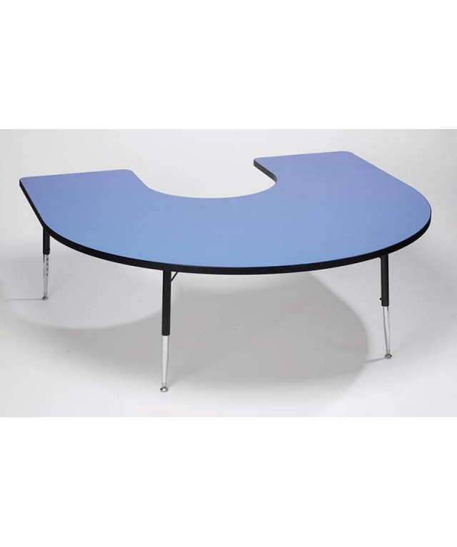 Blue Horseshoe Table