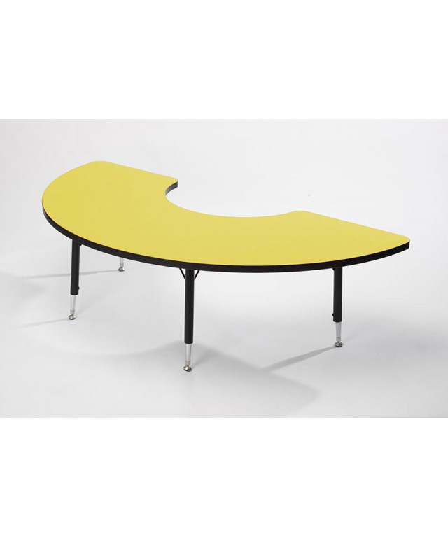 Yellow Height Adjustable Arc Table