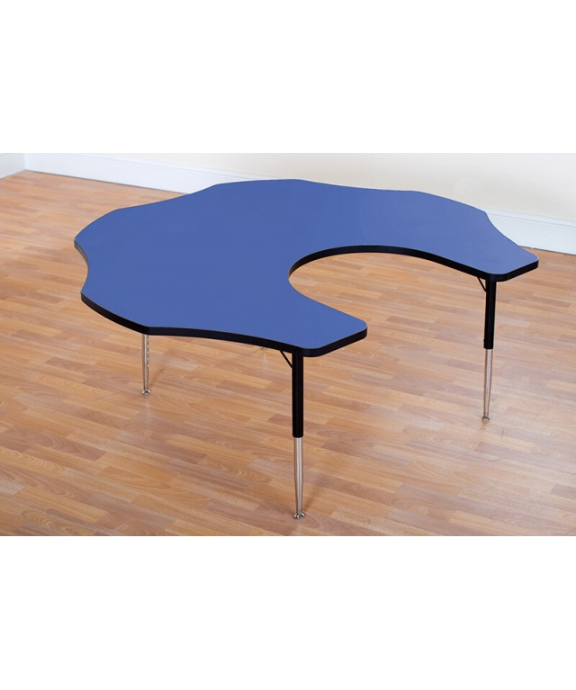 Height Adjustable Teacher Flower Table Blue