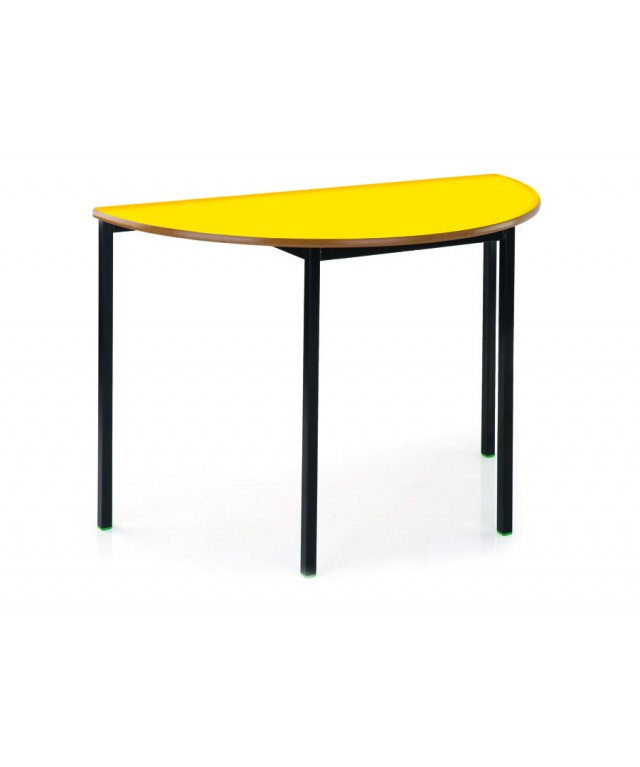 Heavy Duty Table Semi Circular 1200 X 710 High Pu Edge
