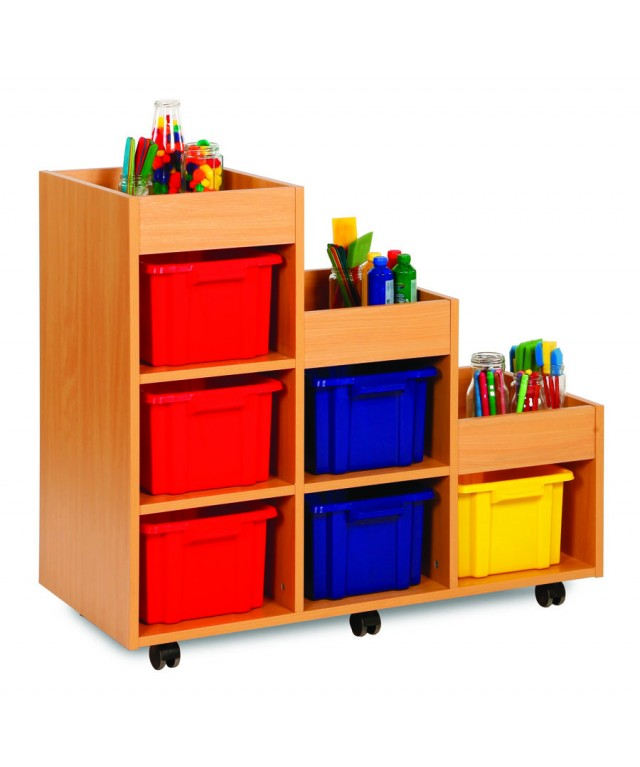 Tiered Right Hand 6 Tray Storage Unit