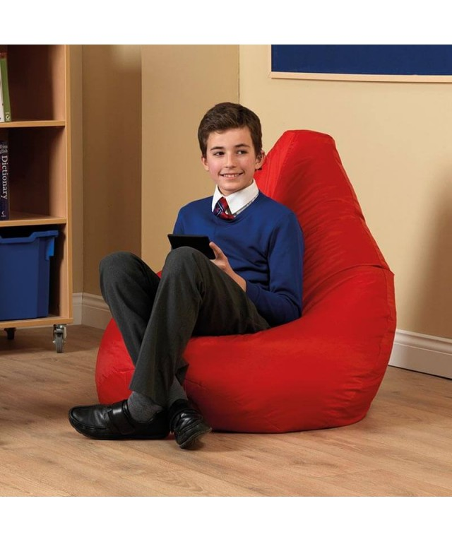 Large Bean Bag Reading Chairs Red