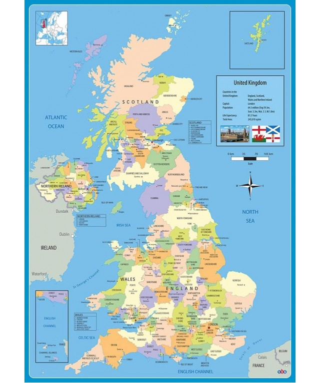 UK Administrative Map A1
