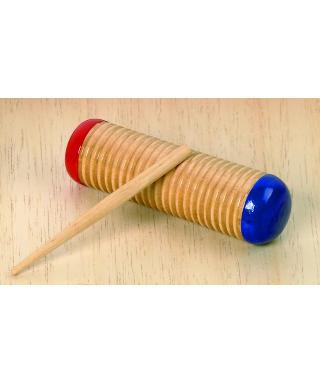 Wooden Guiro Shaker 150mm with Stick
