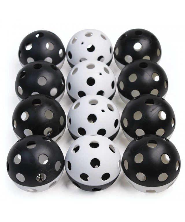 Air Flow Bell Ball  93Mm  Set of 12 Black and White