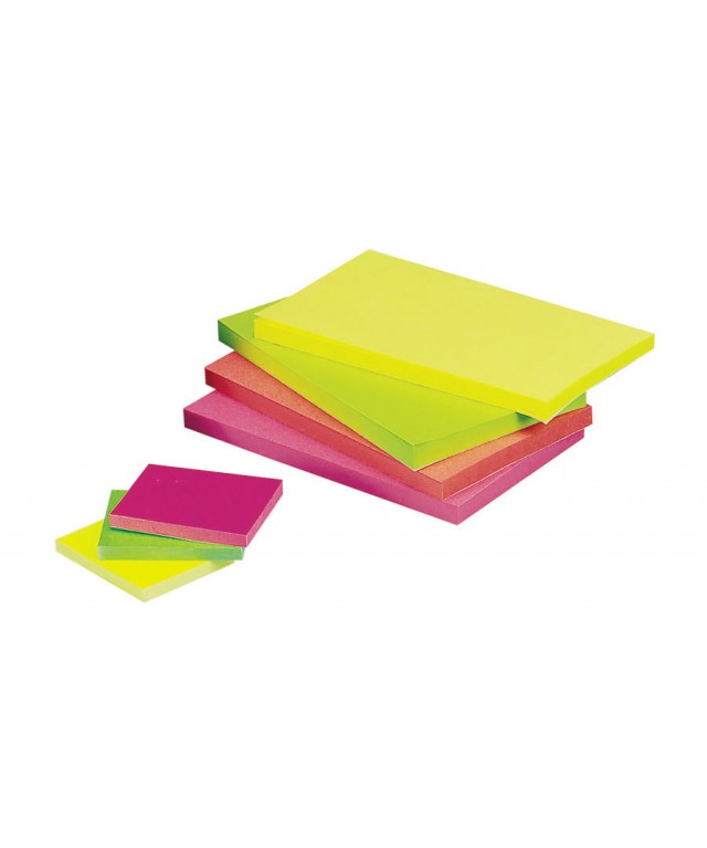 Coloured Sticky Notes 75 X 75 Neon Rainbow