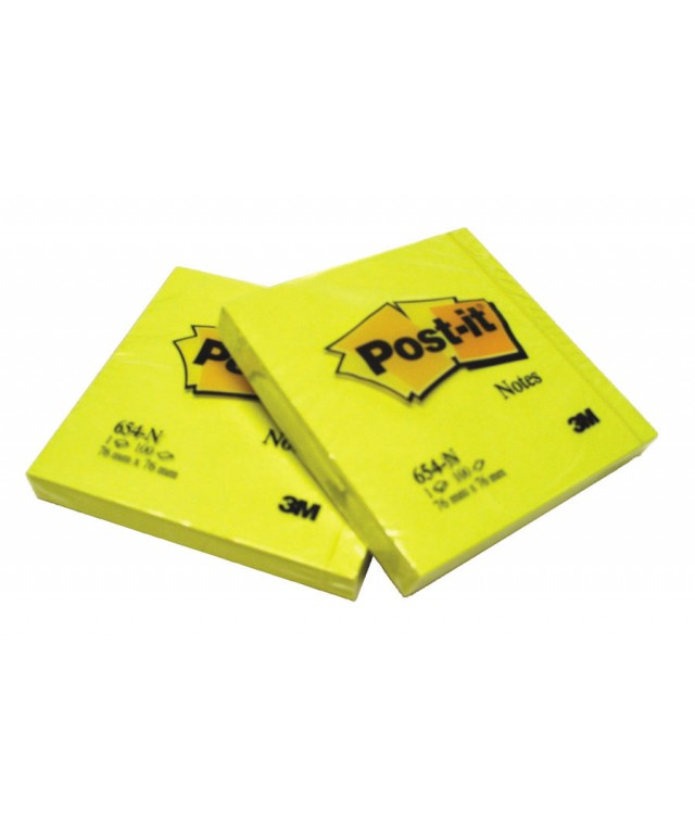 Post It Yellow Notes 76 X 76mm