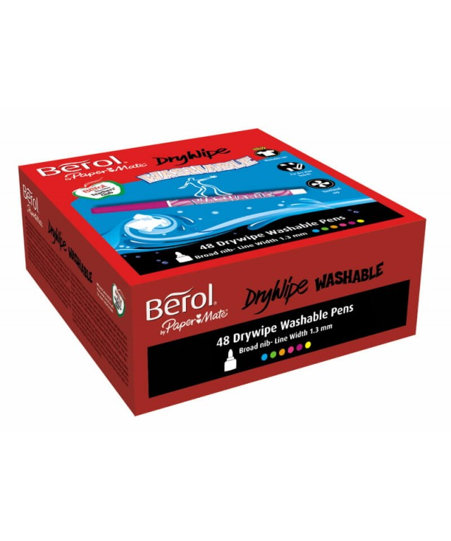 Berol Washable Drywipe Pens Assorted